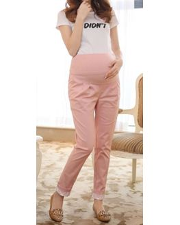 Pink Maternity Formal Pant, large