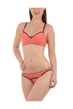 Premium Hosiery Bra panty set - JKLOVSET-ANGEL, 34b, peach