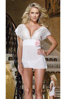 Godess White angel babydoll - JKKLIFE - 4061, white, free  30-34 bust  30-34 waist  30-34 hips