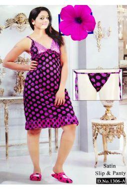 Sexy Satin Babydoll - JKDELJAICH-Baby, 1306a-polka-purple, free  30-36 bust  30-34 waist  30-36 hips