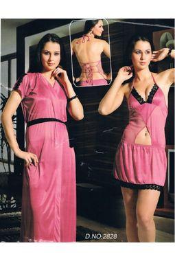 eeba01cbaa 2 Piece nighty - seductive exclusive design - JKHNS - 2P - 2828, pink
