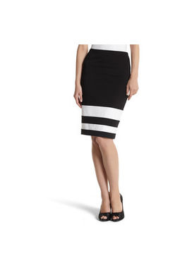Van Huesan Skirt - Stylish Size 32- Jet Black with white Border at bottom