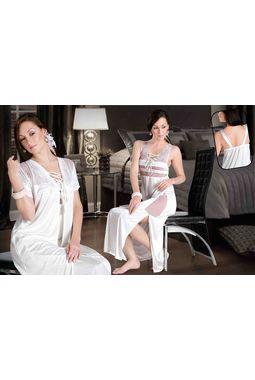e88f32b9a8 2 Piece premium nighty - luxurious women sleepwear - JKNHNS - 2896, red