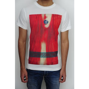Men's round neck graphic digital print white slim fit art t-shirt - Loose lips sink ships, xl