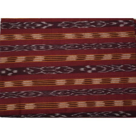 OSS6216: Maroon colour Ikat design Running Fabric for Men and Women fashion