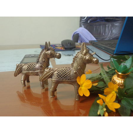 OHD007: Dhokra Horse for your child's play house