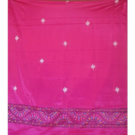 OSS300080: Pink color patachitra dupatta online shopping.