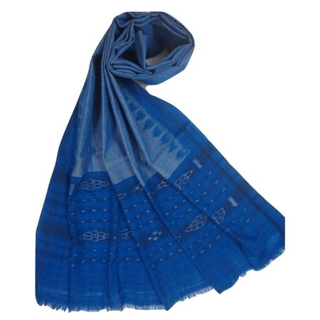 OSS3569: Blue color cotton Dupatta for party wear