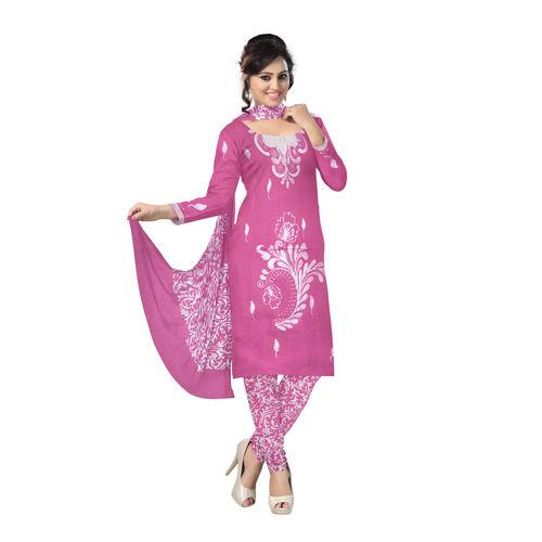 OSSWB124: Soft pink batik printed cotton salwar online
