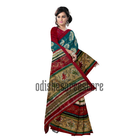 OSSWB048: Bengal's Brasso Cotton Sari with Net design for Party Wear