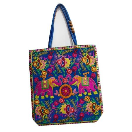 Pipili Handmade Big Elephant Design Hand Bag AJ001631