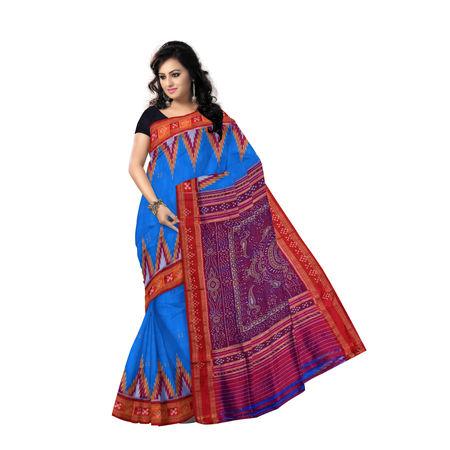 OSS5088: Butti design handwoven silk saree of Odisha