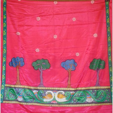 OSS300076: Deep soft pink color dupatta online shopping.