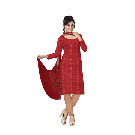 OSS222: Traditional Unstitched handmade cotton salwar suits from Odisha