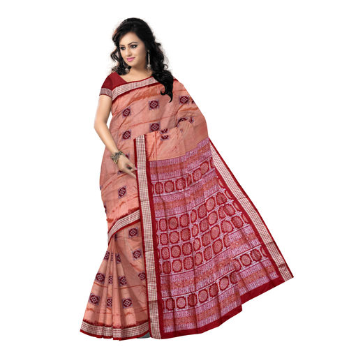 OSS5130: Sandalwood Colour Bomkai Silk saree for Festive wear