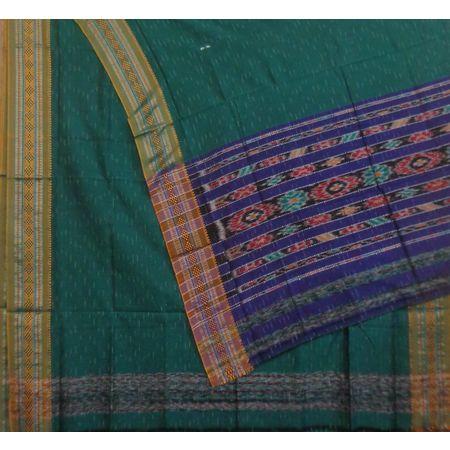 OSS7557: Buti Jharana design Green Simple Indian cotton sarees