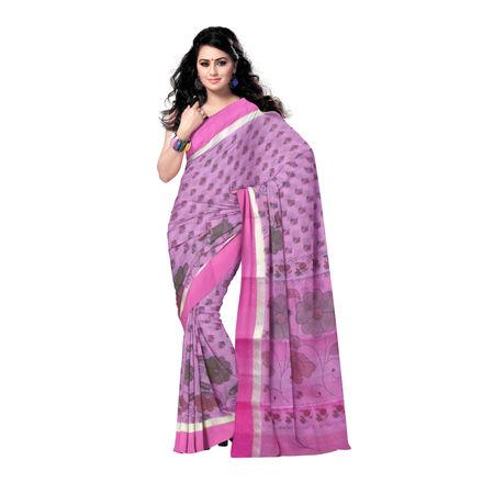 OSSWB116: Nadia Handloom block print cotton Saree
