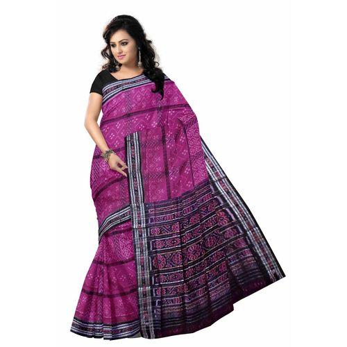 OSS215: Odisha handloom magenta color handloom cotton Style Saree