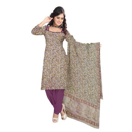 OSSTG015: Unstitched Kalamkari Dress Material.