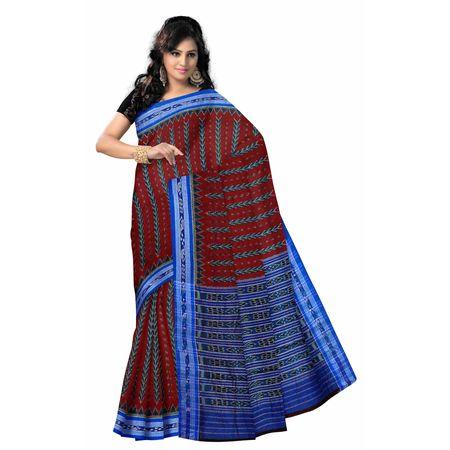 OSS7012: Odisha Maroon color Handwoven ikat sarees.