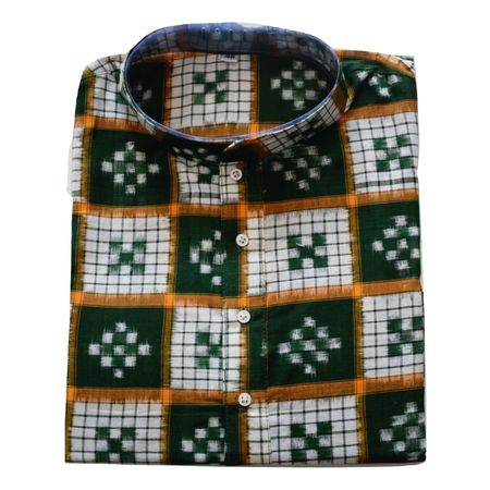 Handloom Sambalpuri Pasapalli Cotton Kurta in Multicolor AJ001196 (Size-40)