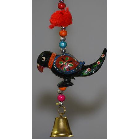 OSSJK004: Paper Mache Chain Peacock handicrafted hanging bell of Kashmir