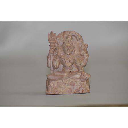 OSS400008: Lord Shiva Brown Stone Statue.