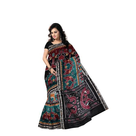 Multicolor Handloom Tajmahal Design Cotton Saree Of Odisha AJ001163