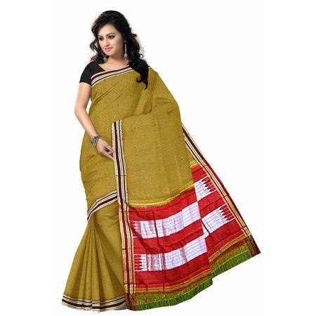OSSKA001: Ilkal Handwoven cotton karnataka gomi border saree