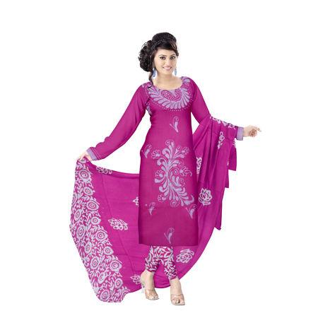 OSSWB9028: Batik design pink handwoven Ladies Dress Material
