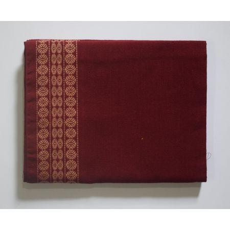 Handwoven Deep Maroon Sambalpuri Cotton Blouse Piece AJ002053
