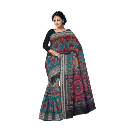OSS7514: Multicolor Handwoven Tajmahal design Ikat sarees online shopping