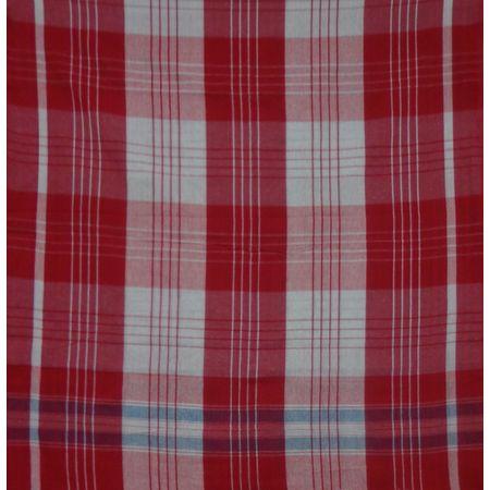 OSSWB131: Handloom West Bengal Red with White Gamcha