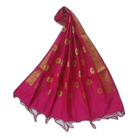 OSSUP155: Banarashee Cotton Silk Antique Gold Zari Butti Dupatta.