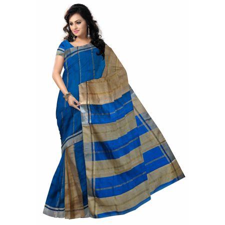 OSSWB038: Blue baha saree online shopping.