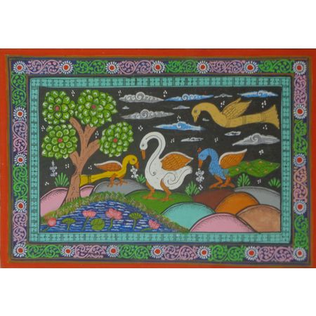OHP058: Scenery View of patachitra Painting online.