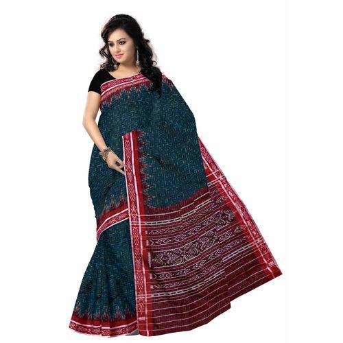 OSS7454: Cotton maniabandhi handloom saree online