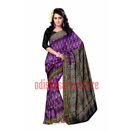 OSS5120: Deep Purple doll design Handloom Silk saree for bridal wear