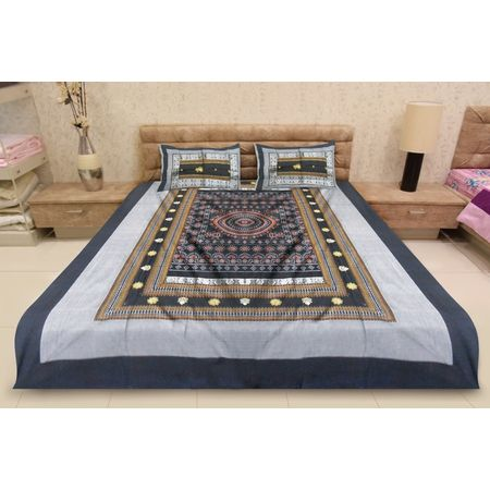 OSS3547: Handloom Sambalpuri Double Bed Sheet online shopping