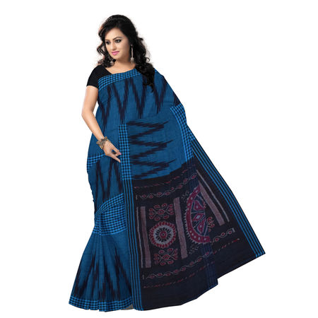 OSS7326: Kargil design multi-colour handwoven Cotton Saree