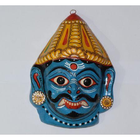 OHP077: Paper mache handicraft of Demon face.