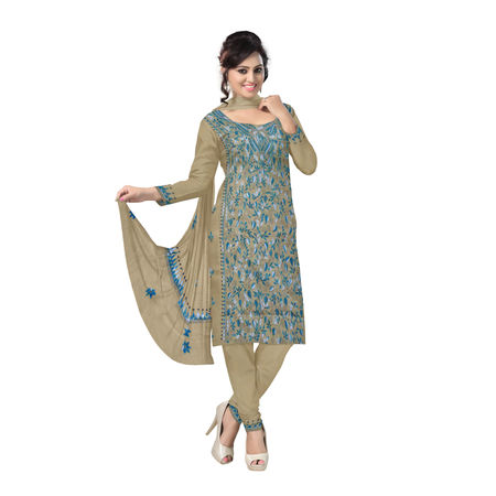 OSSWB0103: West Bengal unstitched dress material with beautiful hand embroidery design online