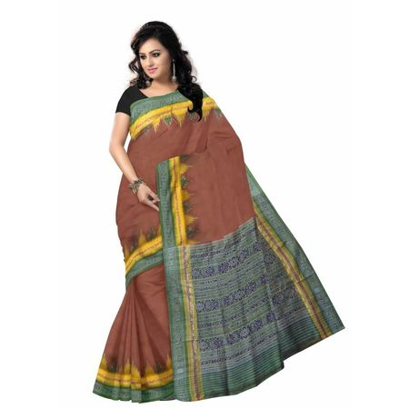 OSS5001: Light Brown handloom odisha silk sarees