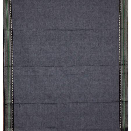 Grey with Black Ladies Cotton Dress Mateial Of Telangana AJ001357