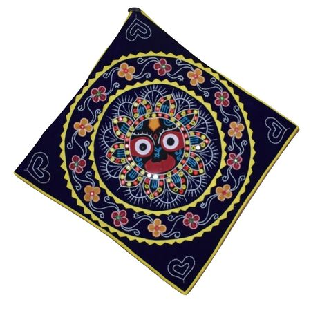 Handmade Pipili Embroidery With Mirror Work Jagannath Design Design chandua AJ001280
