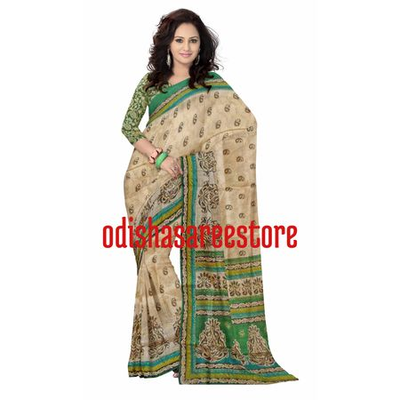 OSSWB045: Ethnic Brasso Cotton Saree with Neem Zori Work