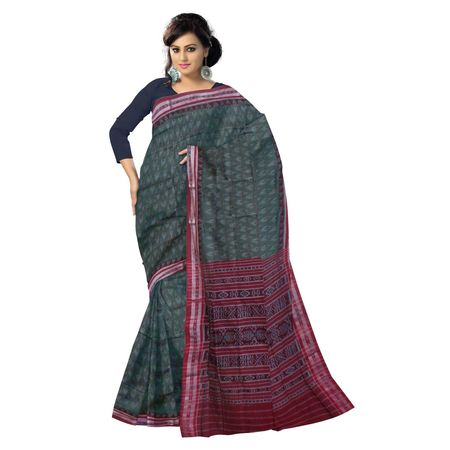 OSS4005: Grey color handwoven katki pure cotton saree of india