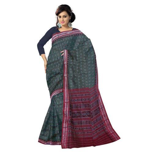 OSS4005: Grey color handwoven katki pure cotton saree of india