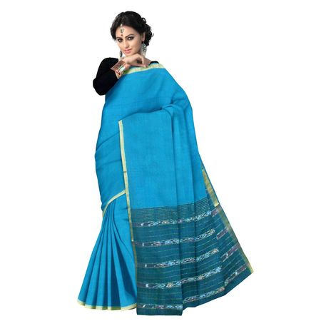 OSSAP003: Cyan Handloom Rajahmundry cotton saree
