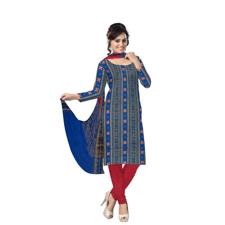 OSS212: Exclusive Sambalpuri Pasapalli handloom Ladies cotton unstitched Dress Materials.